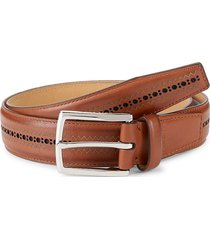 cole haan men's standard strap leather belt - british tan - size 40