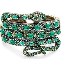 heidi daus women's brass & glass crystal serpent bracelet
