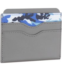 bespoke men's camo-print card case