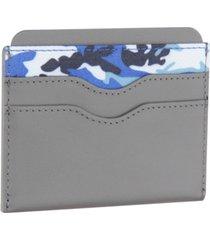 bespoke men's camo-print card case