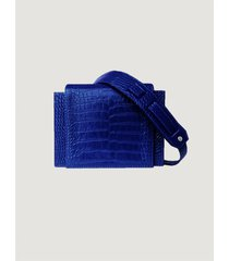cartera azul tentroya mini chevy charol croco