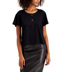 alfani petite flutter-sleeve top, created for macy's