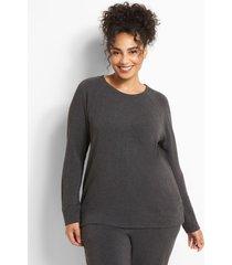 lane bryant women's livi cozysoft sweatshirt 18/20 dark charcoal