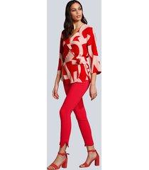 byxor alba moda röd