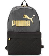 two-tone logo backpack