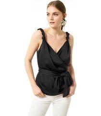 blouse jimmy sanders 19sshtw53022black blouse