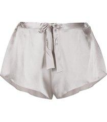 gilda & pearl sophia silk shorts - grey