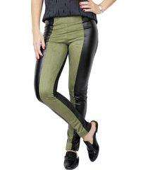 calça legging it shop militar verde e preto - kanui