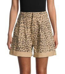 free people women's leopard-print shorts - cheetah - size 26 (2-4)
