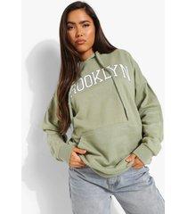 oversized brooklyn hoodie, sage
