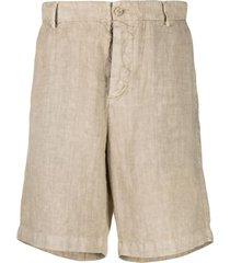 boglioli bermuda straight-leg shorts - neutrals