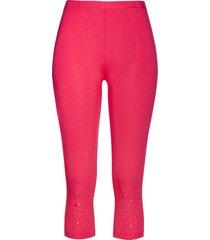 leggings capri con strass (fucsia) - bpc selection