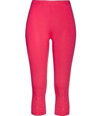 leggings capri con strass (fucsia) - bpc selection
