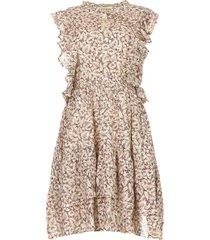 jurk met ruches walhalla  multi