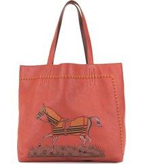 hermès pre-owned double sens 36 reversible tote bag - red