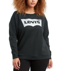 levi's batwing trendy plus size logo graphic sweatshirt