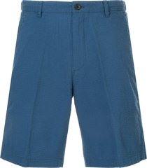 kent & curwen seersucker shorts - blue