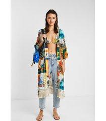 hawaiian eco kimono - material finishes - l