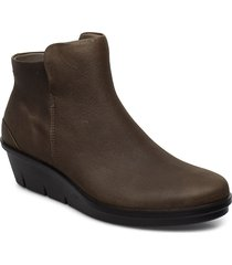 skyler shoes boots ankle boots ankle boots with heel brun ecco