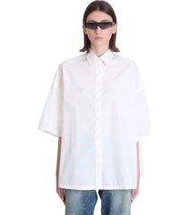 balenciaga shirt in white viscose