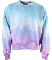 watercolor print sweatshirt