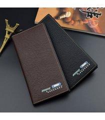 billetera, bolso largo ocasional del traje de negocios-negro