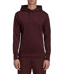 y-3 men's u ch gfx mesh hoodie - red - size xs