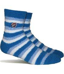 stance women's oklahoma city thunder fuzzy steps socks