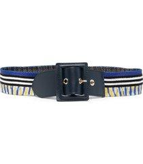 missoni knitted stripe belt - blue