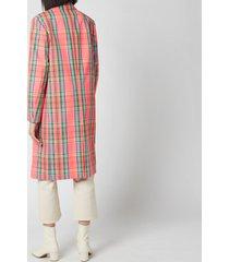 ps paul smith women's check coat - multi - it 42/uk 10