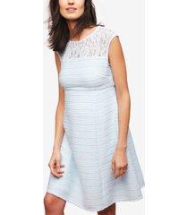 taylor maternity lace-trim a-line dress