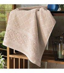 toalha de banho dohler jacquard confort, liso, bege - fj-5281