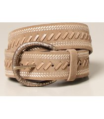 alberta ferretti belt alberta ferretti belt in suede with workmanship