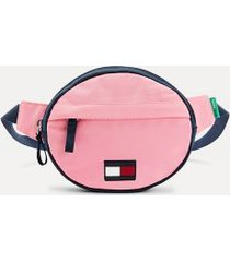 tommy hilfiger boy's kids recycled round fanny pack exotic pink -