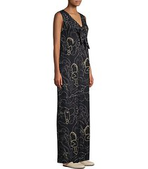 adelphi graphic v-neck jumpsuit