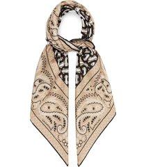 tb-print silk-satin scarf