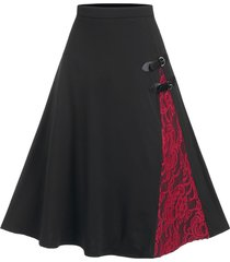lace panel buckled a line skirt