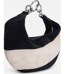 by far women's bougie shoulder bag - black & oat