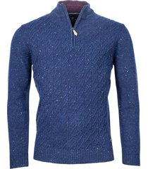 baileys trui ritssluiting lamswol cable knit regular fit