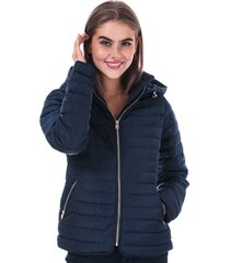 tokyo laundry womens ginger hooded jacket size 14 in blue