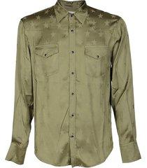 military green viscose shirt