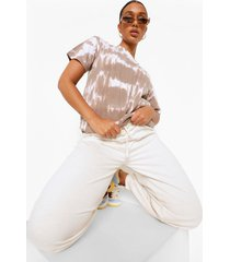 oversized ofcl tie dye t-shirt, brown