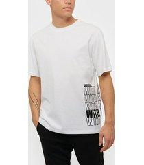 j lindeberg michael-distinct cotton t-shirts & linnen white