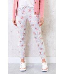 skinny jeans bloemenprint
