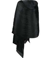 pleats please issey miyake pleated scarf - black