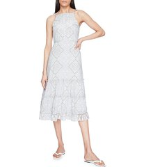 parker women's lillian tiered midi dress - mosaic - size 16