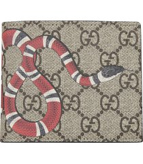 gucci double g snake bifold wallet