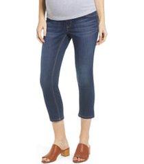women's 1822 denim crop maternity skinny jeans, size 28 - blue
