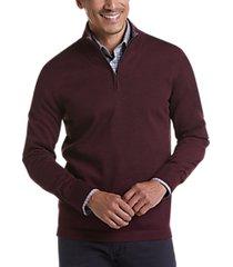 joseph abboud burgundy 37.5® technology 1/4 zip mock neck modern fit sweater
