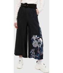 pantalón azul-multicolor desigual